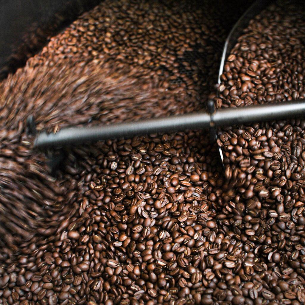 Torréfaction fèves de café